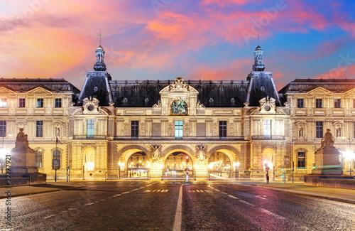 Wallpaper Mural Louvre Museum in Paris at sunrise, France