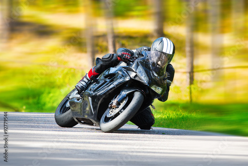 Canvas Print Motorbike racing
