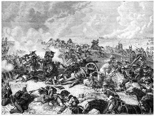 Wallpaper Mural Battle of Waterloo Ney charge the land of cuirassiers, vintage e
