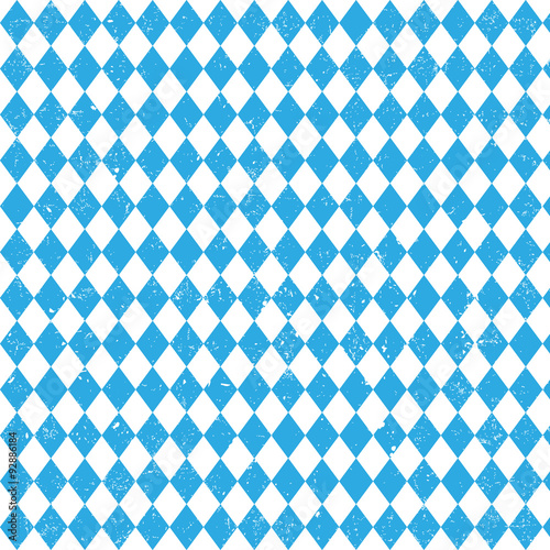 Oktoberfest checkered background and Bavarian flag pattern Fototapeta