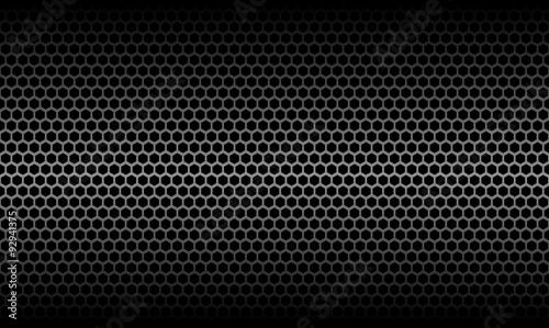 Foto Dark Honeycomb Metallic Carbon Texture