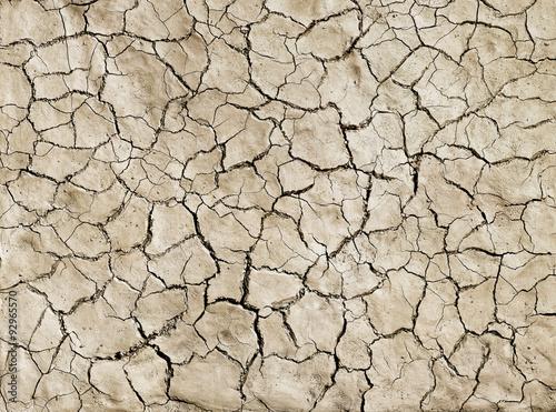 Fotomural Un primer plano de fango agrietado