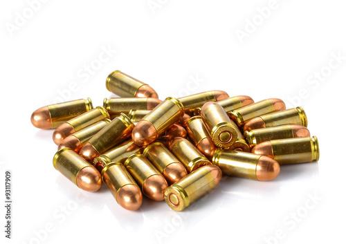Obraz na płótnie Bullet placed on white background.