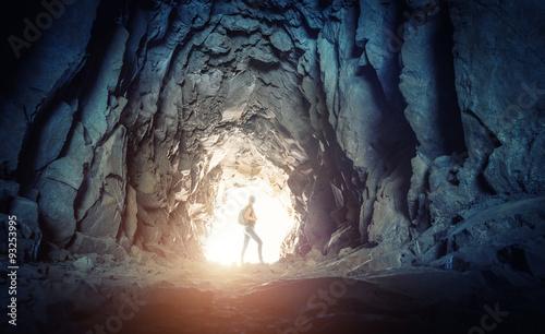 Fotografia Woman in the cave