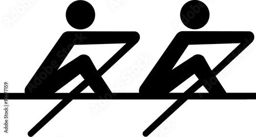 Cuadros en Lienzo Rowing Icon coxless pair