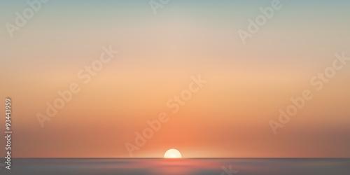 Foto Paysage mer aube