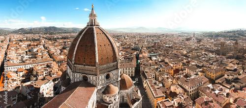 Obraz na plátně panoramica duomo firenze