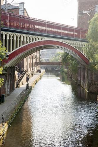 Canvas Print Rochdale Canal, Deansgate, Manchester