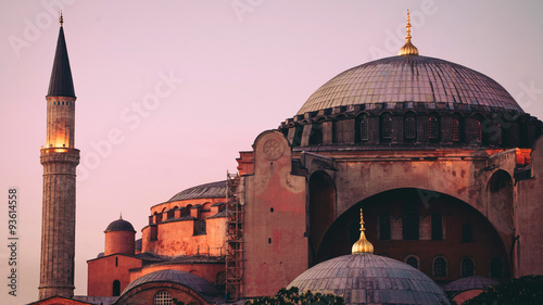 Obraz na plátně Hagia Sophia at Dusk