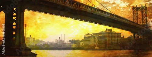 NYC Bridge Painting #93800308