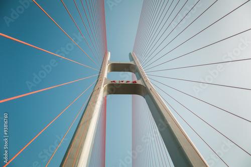 cable stayed bridge closeup