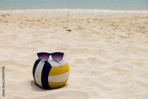 Fototapeta Volejbal na Letní pláž s lupa