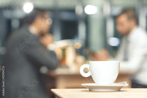 Carta da parati Cup of coffee on a table