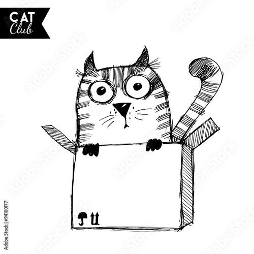 funny cat  character vector cat club #94100177