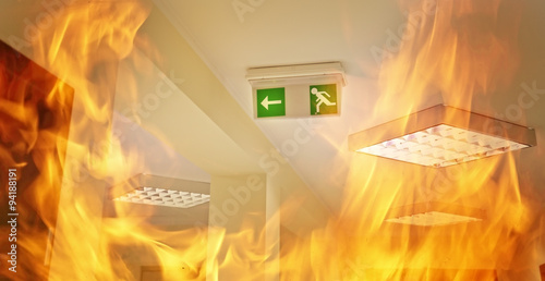 Stampa su Tela Fire in the hall