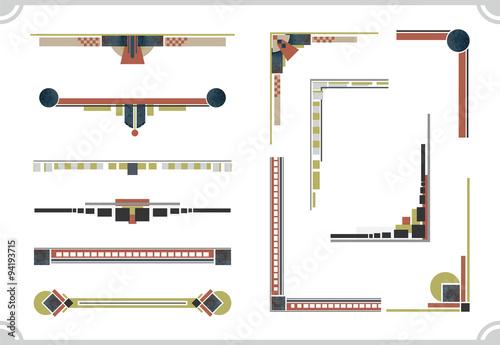 Obraz na plátně avant-garde design elements. Frame and border