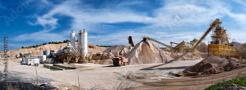 Photo Panoramic photograph of a sand pit