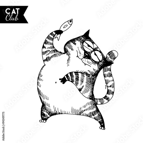 funny cat character #94349775