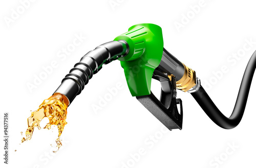 Fotografie, Tablou Gasoline Gushing Out From Pump