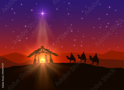 Foto Christian background with Christmas star