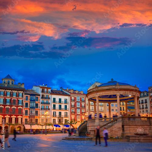 Obraz na płótnie Pamplona Navarra Spain plaza del Castillo square