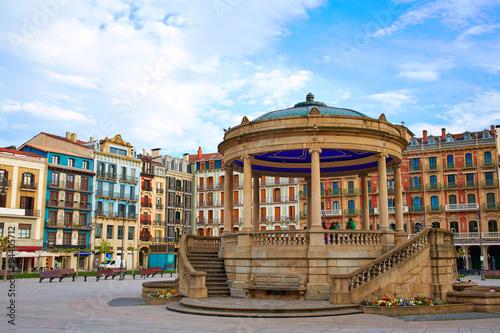Pamplona Navarra Spain plaza del Castillo square Fototapeta