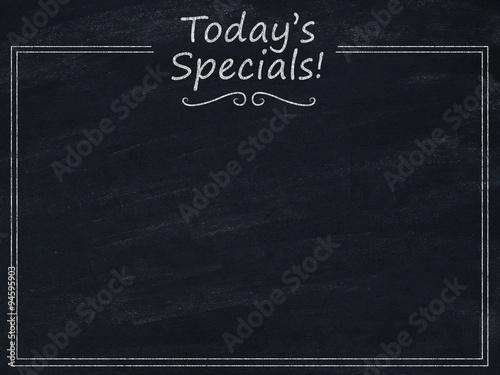 Fotografie, Obraz Today's specials menu