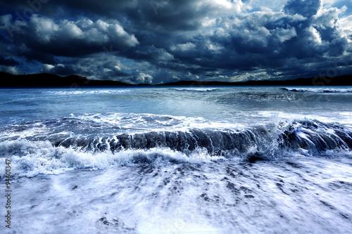Obraz na płótnie Paisaje marino tormentoso
