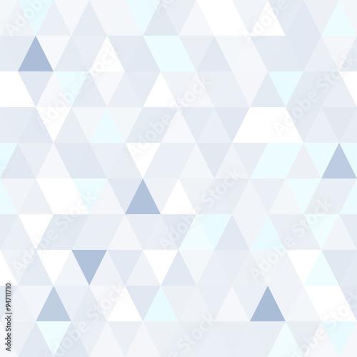 Triangular shape shimmering blue seamless pattern. Geometric shiny background.