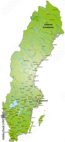 Photo Karte von Schweden