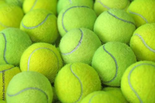 Canvas Print tennis ball as sport background