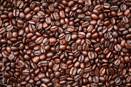 Fototapeta premium Tło ziaren kawy