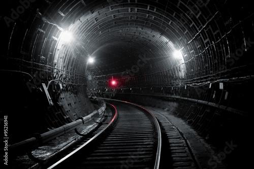 Obraz na płótnie Kiev subway tunnel
