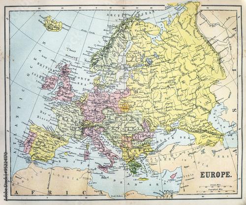 Valokuva Map of 19th Century Europe