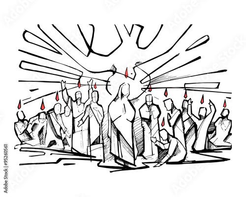 Wallpaper Mural Pentecost