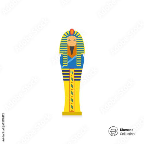 Canvas Print Egyptian pharaoh sarcophagus icon