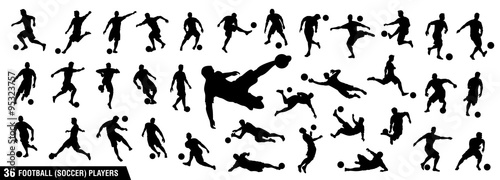 Photo vector set of football (soccer) players 1