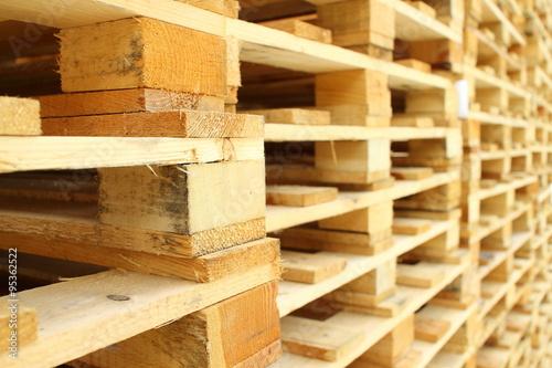 Fotografia Wood pallet in factory