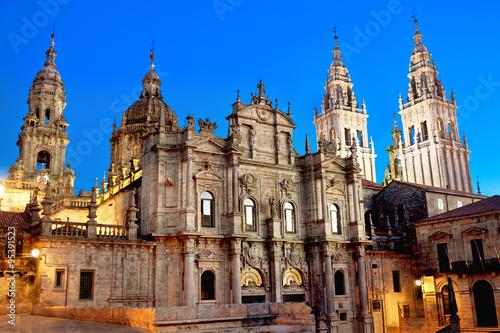Canvas Print Cathedral of Santiago de Compostela. Galicia, Spain