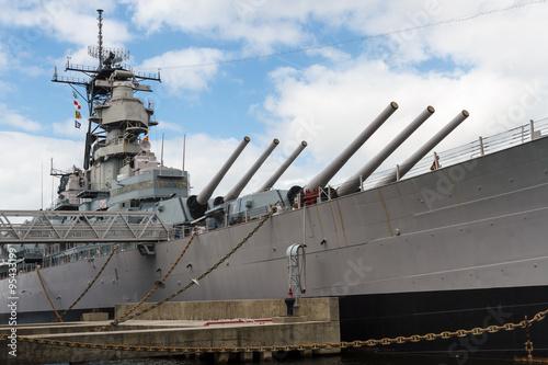 Naklejki na meble Pancernik Wisconsin (BB-64) w Nofolk Harbour, Wirginia