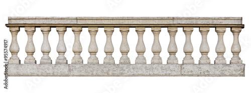 Valokuva Baroque balustrade (isolated on white background)