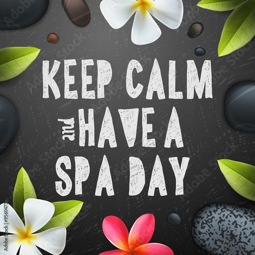 Canvas Print Keep calm have a Spa day