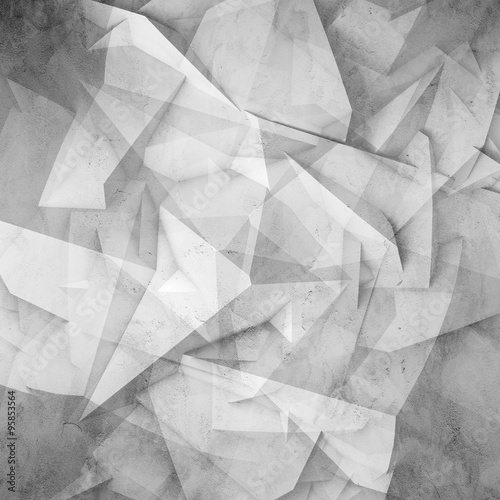 Abstract digital 3d chaotic polygonal surface #95853564