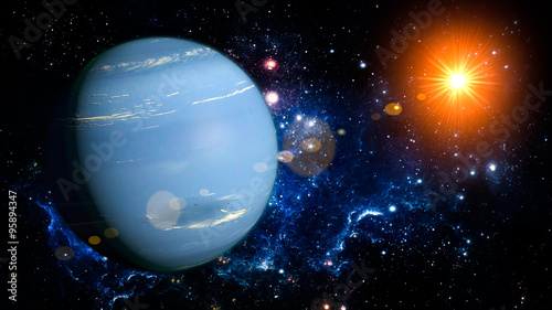 Fotografia Neptune Planet Solar System space isolated
