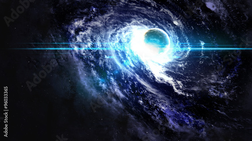 Black hole in space. Elements of this image furnished by NASA #96033365