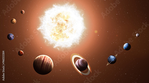 High quality solar system planets. Elements of this image furnished by NASA #96033384