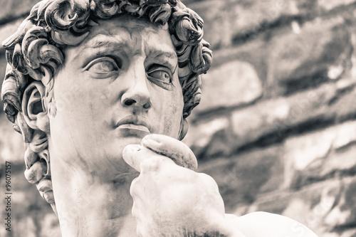 Canvas Print Michelangelo's David Statue, Italian Art Symbol