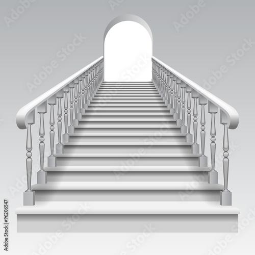 Valokuvatapetti Stair with railings