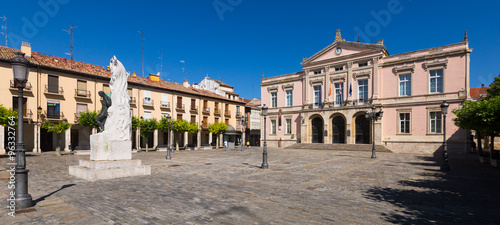 City hall of Palencia in sunny day