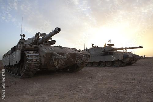 Canvas Print Merkava Mk 4 Baz Main Battle Tank